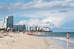 Het Strand van het Zuiden van Miami, Florida Stock Foto's