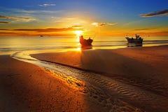 Het strand van Hin van Hua. Stock Foto's