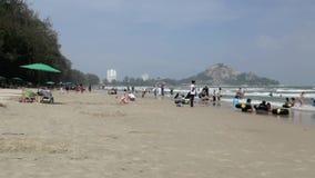 Het Strand van Hin van Hua stock footage
