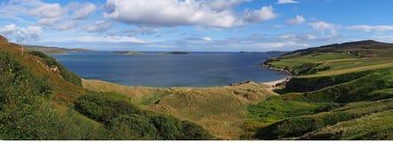 Het strand van hooglanden in Schotland Royalty-vrije Stock Foto's