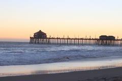Het Strand van Huntington stock foto's