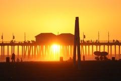 Het Strand van Huntington stock afbeelding