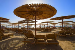 Het Strand van Hurghada stock afbeeldingen