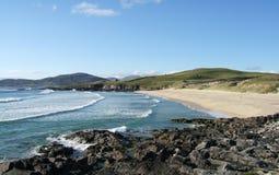 Het strand van Iar van Traigh op Eiland van Harris, Schotland royalty-vrije stock afbeeldingen