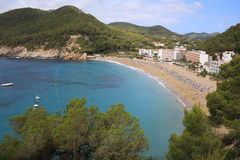Het Strand van Ibiza Royalty-vrije Stock Afbeeldingen