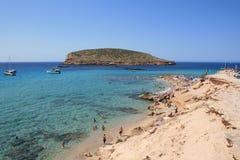 Het Strand van Ibiza Stock Foto's
