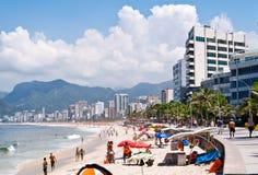 Het strand van Ipanema Stock Afbeeldingen