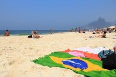 Het Strand van Ipanema Royalty-vrije Stock Foto
