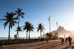 Het Strand van Ipanema Royalty-vrije Stock Foto's