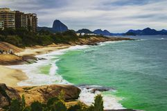 Het strand van Ipanema Stock Fotografie