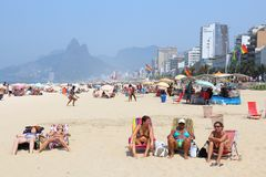 Het Strand van Ipanema Royalty-vrije Stock Afbeelding