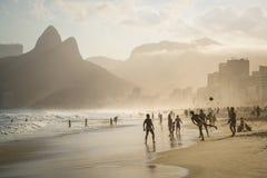 Het strand van Ipanema, Rio de Janeiro, Brazilië stock afbeelding