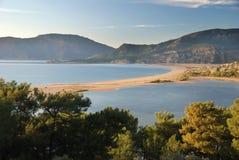 Het strand van Iztuzu Stock Fotografie