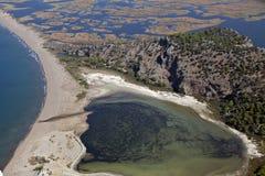 Het strand van Iztuzu en delta van rivier Dalyan Royalty-vrije Stock Foto's