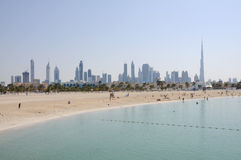 Het Strand van Jumeirah in Doubai Royalty-vrije Stock Afbeeldingen
