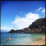 Het Strand van Kaanapali stock afbeeldingen