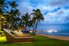 Het strand van Kaanapali, Maui, Hawaï Stock Afbeelding