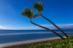 Het strand van Kaanapali, Maui, Hawaï Stock Fotografie