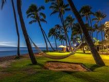 Het strand van Kaanapali, Maui, Hawaï Stock Afbeeldingen