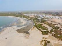 Het strand van Kaappunt in Gambia Royalty-vrije Stock Foto