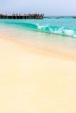 Het strand van Kaapverdië, Santa Maria Stock Fotografie