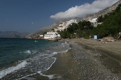 Het strand van Kalymnos Stock Foto's