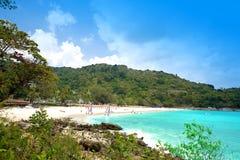 Het strand van Karon, Phuket, Thailand Stock Afbeelding