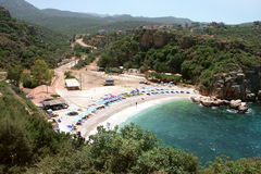 Het strand van Kas, Antalya - Turkije royalty-vrije stock foto's