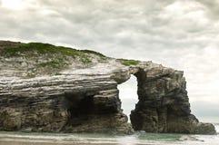 Het strand van kathedralen, Galicië royalty-vrije stock foto's