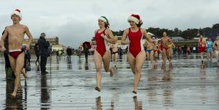 Het strand van Kerstmis Royalty-vrije Stock Foto