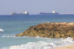 Het Strand van knuppelgalim in Haifa Royalty-vrije Stock Afbeeldingen