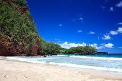 Het Strand van Koki op Maui Hawaï Stock Foto