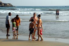 Het Strand van Kovalam Royalty-vrije Stock Afbeeldingen