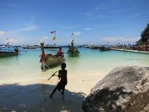Het strand van Krabi Stock Foto