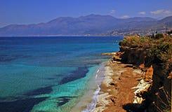 Het strand van Kreta Royalty-vrije Stock Afbeeldingen