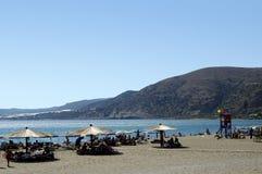 Het strand van Kreta Paleohora Stock Afbeeldingen