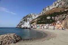 Het strand van La Caleta in Gibraltar Stock Fotografie