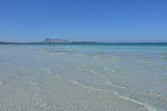 Het strand van La Cinta in San Teodoro, Sardinige royalty-vrije stock foto