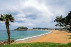 Het strand van La Concha Stock Foto