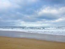 Het strand van La Concha Mening van strand van Donostia - San Sebastian, Spanje royalty-vrije stock afbeelding