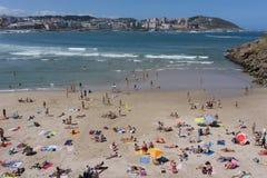 Het Strand van La Coruna Royalty-vrije Stock Foto