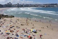 Het Strand van La Coruna Stock Foto's