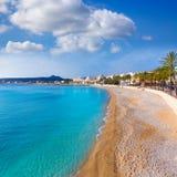 Het strand van La Grava van Javeaxabia Playa in Alicante Spanje Royalty-vrije Stock Afbeeldingen