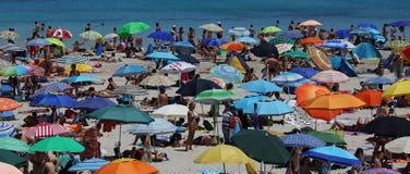 Het strand van La Pelosa, Stintino, Sardinige Royalty-vrije Stock Afbeeldingen
