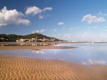 Het strand van Laida in Baskische Vizcay, Royalty-vrije Stock Afbeelding