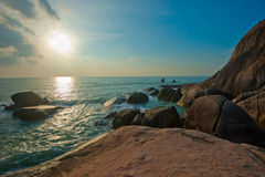 Het Strand van Lamai, Koh Samui, Thailand Stock Foto