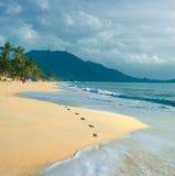 Het Strand van Lamai, Koh Samui, Thailand Stock Foto's