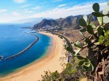 Het strand van Lasteresitas op Tenerife, Spanje Royalty-vrije Stock Foto's