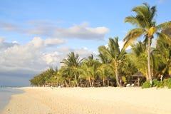 Het strand van le morne Stock Afbeelding