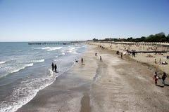 Het strand van Lido aan het zuiden stock foto